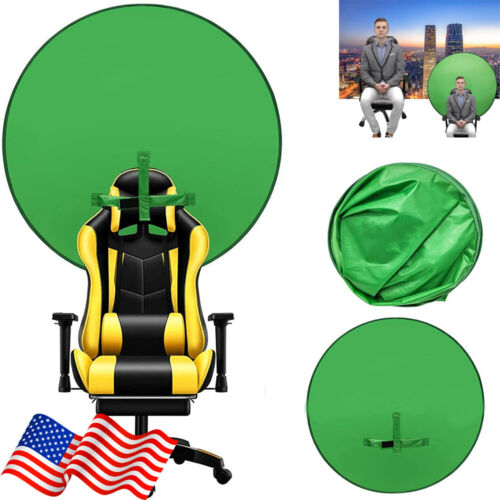 Round Green Screen Backdrop Photography Background for Photo Video Studio Tool