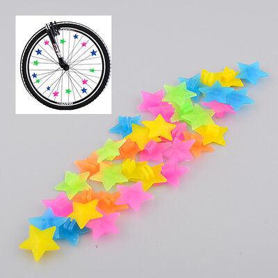 Bicycle Wheel Spoke 36Pcs Bike Colorful Plastic Bead Kid Cycling Tyre Clip Decor