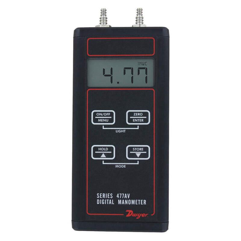 Manometer Kit,Digital,30.00 psi 477AV-6