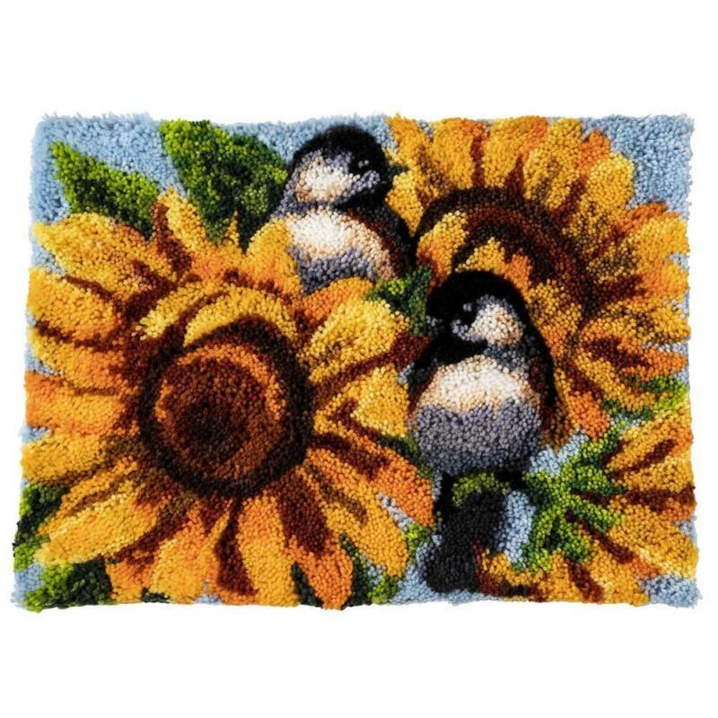 Herrschners® Sunflower Chickadees Latch Hook Kit