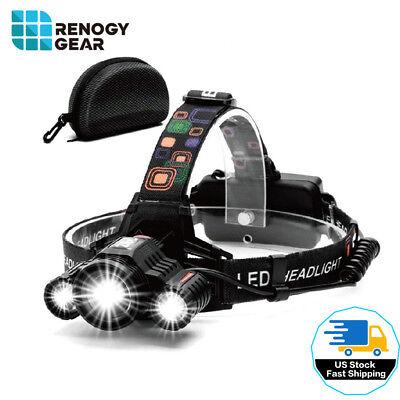 Led Headband Lights (Renogy 90° Adjustable LED Headlamp Moving Headband 8000 Lumen Waterproof)