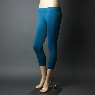 Comfy Seamless Footless Capri Casual Stretch Lounge Comfy Womens Skinny Legging Comfy Footless Leggings