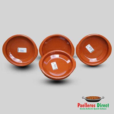 Set of 4 x 16cm Spanish Terracotta Tapas Dishes / Cazuelas