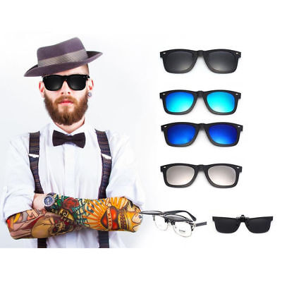 Magnetic Spectacle Glasses Frame With 4 Pieces Polarized Sunglasses (Magnetic Sunglasses)