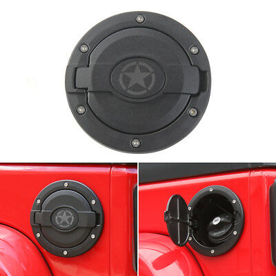 Fuel Filler Door Cover Gas Tank Cap for 07-17 Jeep Wrangler JK Unlimited 4Door