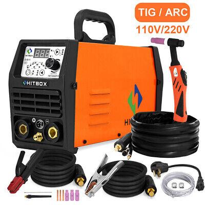 Hitbox 200a Digital Hf Pulse Tig Welder 110v220v Arc Stick Tig Welding Machine
