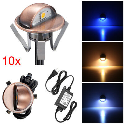10pcs 35mm LED Deck Stair Step Light Low Voltage Copper Outdoor Fence Spot lamp