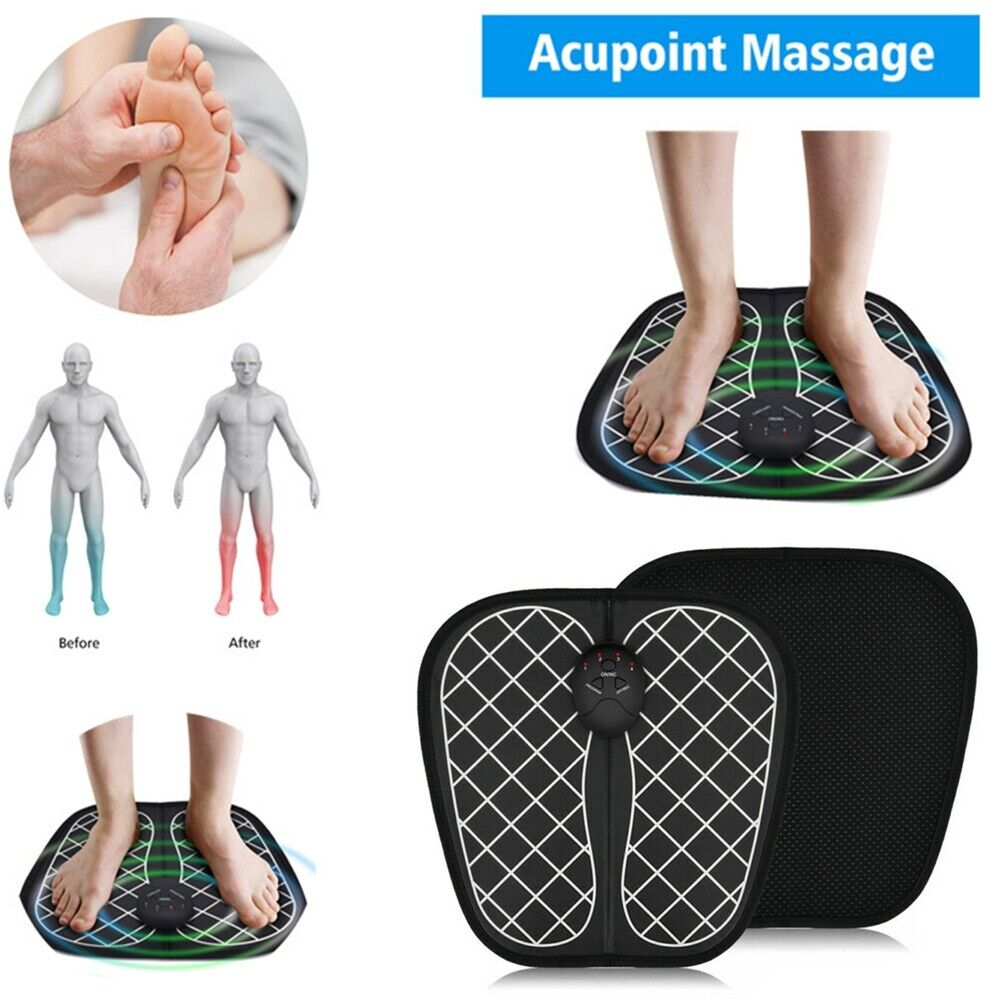 EMS Foot Massager Electric Physiotherapy Vibrator Feet Muscle Stimulator  Relax | eBay