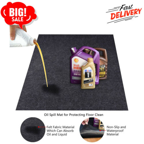 Oil Spill Mat,Reusable Washabley,Contains Liquids,Protects Driveway Surface