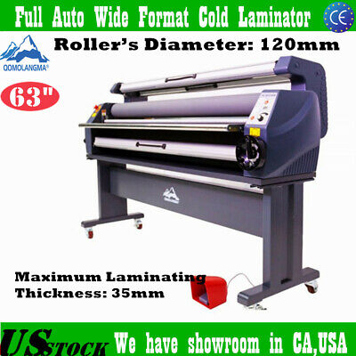 Us Stock 63 Full Auto Wide Format Heat Assisted Cold Laminating Machine 1600mm