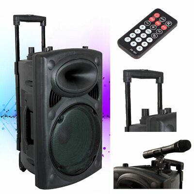 Dj Pa Profesional Mobil Activo Música Karaoke Refuerzo de Sonido Planta Altavoz