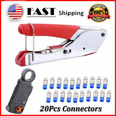 Rg6rg59 Compression Tool F Crimper Coaxial Cable Connector Crimping Pliers Set