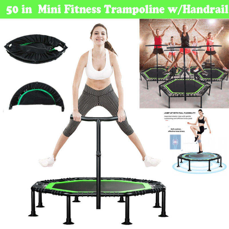 51in Mini Trampoline Rebounder Fitness indoor Jumping Sports
