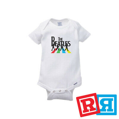 The Beatles Abbey Road Baby Onesie Rocker Bodysuit Unisex Gerber Organic Cotton