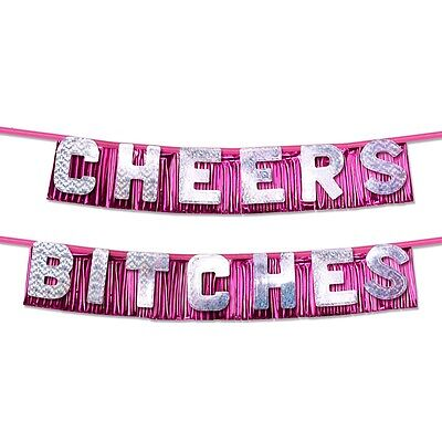 Bachelorette Party - Cheers Bitches Party Banner Decorations Bridal Shower