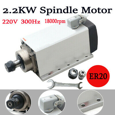 Cnc Square Spindle 2.2kw Motor 2200w Air Cooled Motor Machine Milling 18000rpm