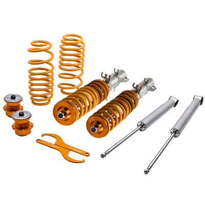Vw Jetta Coilovers - Adjustable STREET Coilovers for VW Golf MK4 2WD only A4 1998-2005 Coil Springs