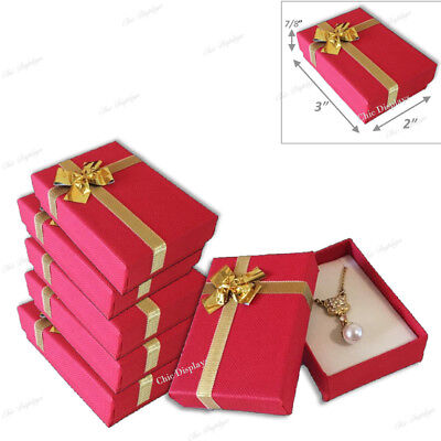 Jewelry Gift Boxes For Necklace And Earrings Jewelry Boxes Red Gift Boxes 20-pc