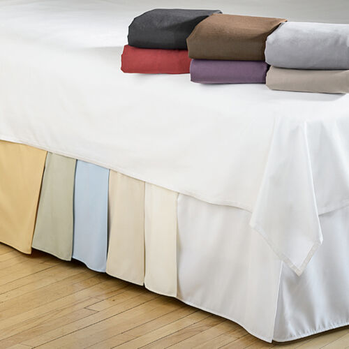 Microfiber 1500 Egyptian Quality Pleated Bed Skirt 14″ Drop All Sizes & Colors Bed Skirts