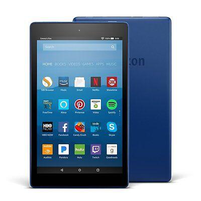 Kindle Fire Hd 8 Tablet With Alexa  8  Display  32Gb  Marine Blue 7Th Gen 2017
