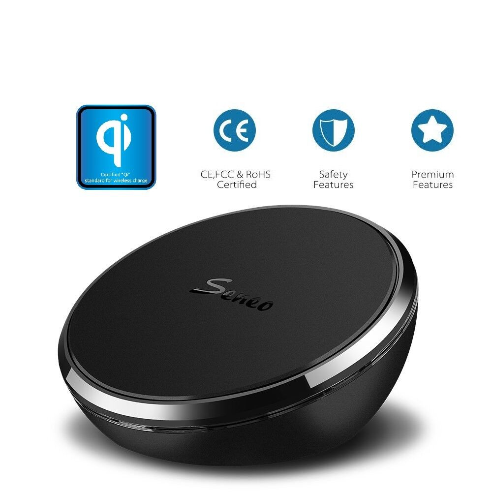 Seneo QI Wireless Charger Charging Pad for iPhone 8 8 Plus 8