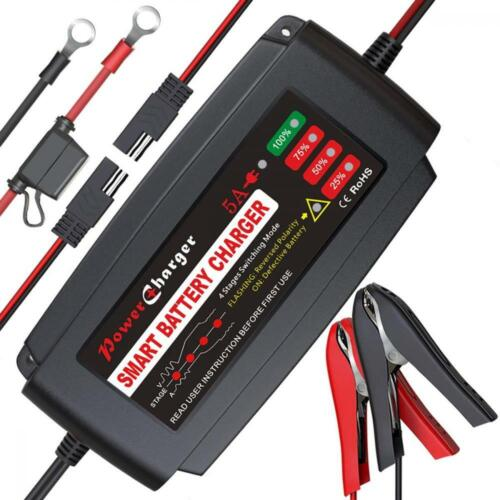 BMK 12V 5A Smart Battery Charger Portable Battery Maintainer