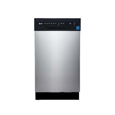 Avanti 18 In Built-in Dishwasher In Stainless Steel With Stainless Steel Tub
