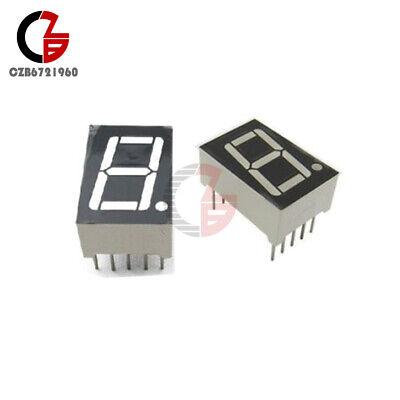 2pcs Common Anode 10-pin 1 Bit 7 Segment 0.56 Blue Led Display Digital Tube