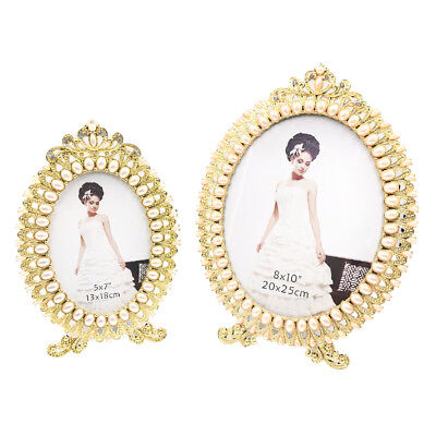Pearl Crown Detail Wedding Photo Frame Gold - Anniversary Picture Frame - Crown Frame