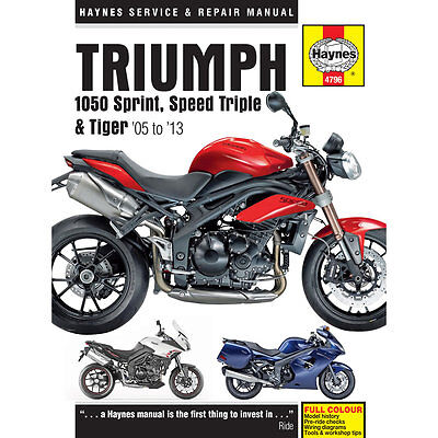 Triumph 1050 Sprint ST Speed Triple Tiger 2005-13 Haynes Workshop Manual