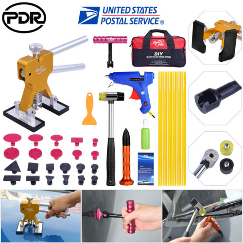 109× US PDR Tools Paintless Dent Repair Push Rods Hail Puller Lifter Hammer Tail