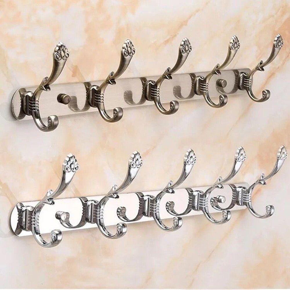 Wall Mount Hooks, Stainless Steel Hooks For Coat. 2 Pack, Br