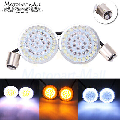 2X Bullet 1157 LED Turn Signals Light Inserts For Harley Street Road King (King Street Mall)