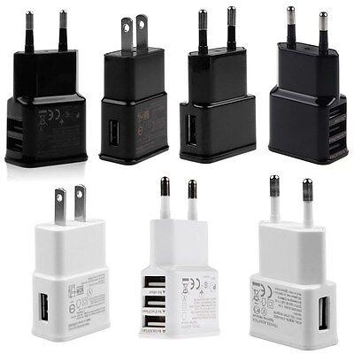 1A/2A CA alimentazione USB Adattatore Caricabatteria Da Parete Da viaggio EU/