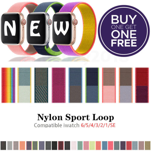 Nylon Sport Band Loop For Apple Watch iWatch Series SE/6/5/4/3/2/1 44/42/40/38mm