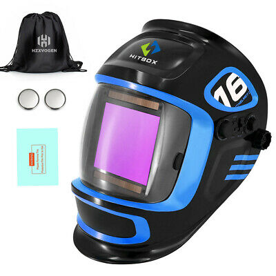 Mma Tig Mig Welding Mask Hood True Color Auto Darkening Welding Helmet Hitbox