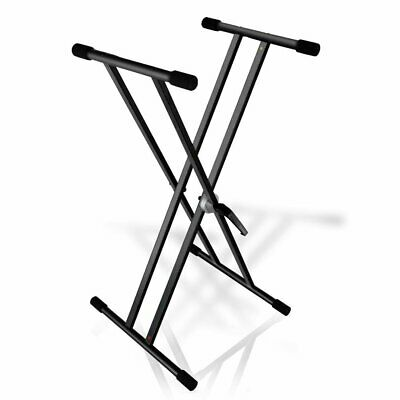 Pyle - PKS40 - Universal Keyboard Stand, Digital Piano DJ Table Mount Holder