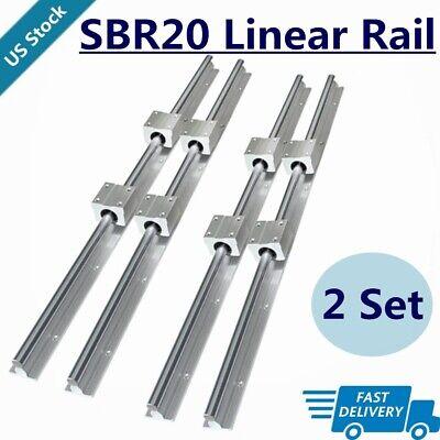 4x Sbr20 200mm2200mm Linear Silde Rail Guide Shaft8x Sbr20uu Bearing Block Set