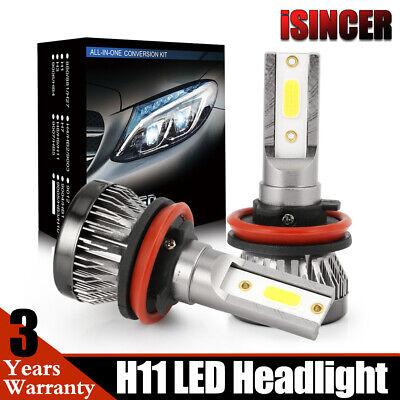 H11 HB3 Mini Size COB LED Headlight Conversion Bulb Hi/Lo Beam HID White 6000K