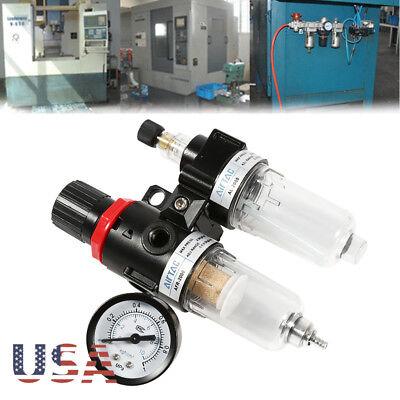 Oil Water Trap Air Compressor Regulator Moisture Trap Filter Pressure Gauge 14