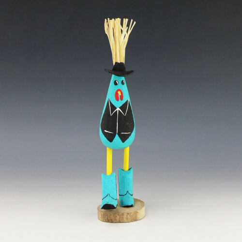 NATIVE AMERICAN NAVAJO FOLK ART COWBOY CHICKEN BY CHANDLER BEGAYE