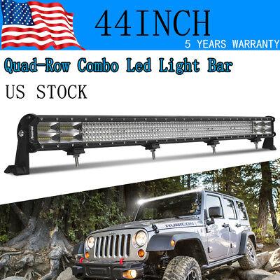 "2160W 32/""INCH LED LIGHT BAR SPOT FLOOD COMBO Quad ROW OFFROAD ATV SUV 42/"""