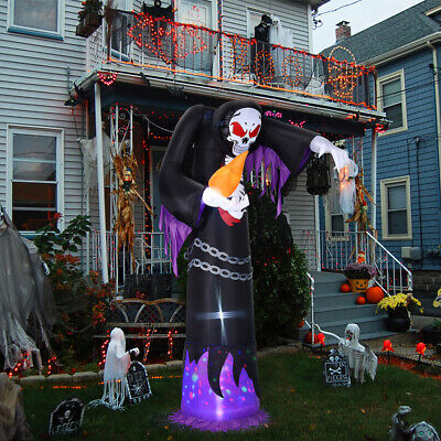 10FT Halloween Inflatable Grim Reaper Scary Ghost Air Blown Up Model Decoration
