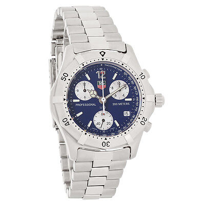 Tag Heuer 2000 Classic Mens Blue Dial Swiss Chronograph Watch CK1112.BA0328