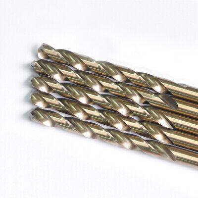 Drillforce 5pcs 38 Cobalt Drill Bits Set Hss M35 Jobber Length Metal Drill Bit