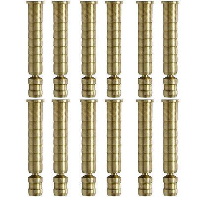 Easton H Brass Inserts 12pk 75-50 Grains 821211 H Diameter Carbon Arrows #21211