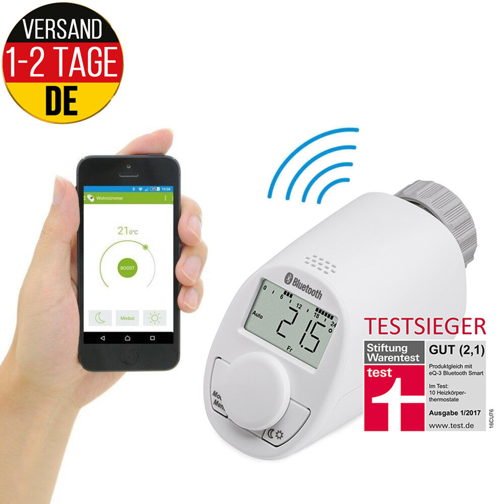 Bluetooth Heizkörper Thermostat Android iOS Heizungsregler Heizkörperthermostat