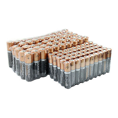 50 Duracell 1.5V AA & 50 AAA Duralock Alkaline Batteries 100 PCS Total Exp. 2021 on Rummage