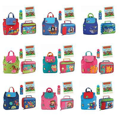 Stephen Joseph Quilted Backpack Lunch Box Drink Set Kids Sch