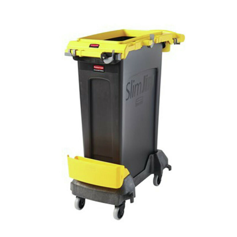 Rubbermaid Commercial 2032954 Slim Jim Single-Stream Cleaning Cart - Yellow New
